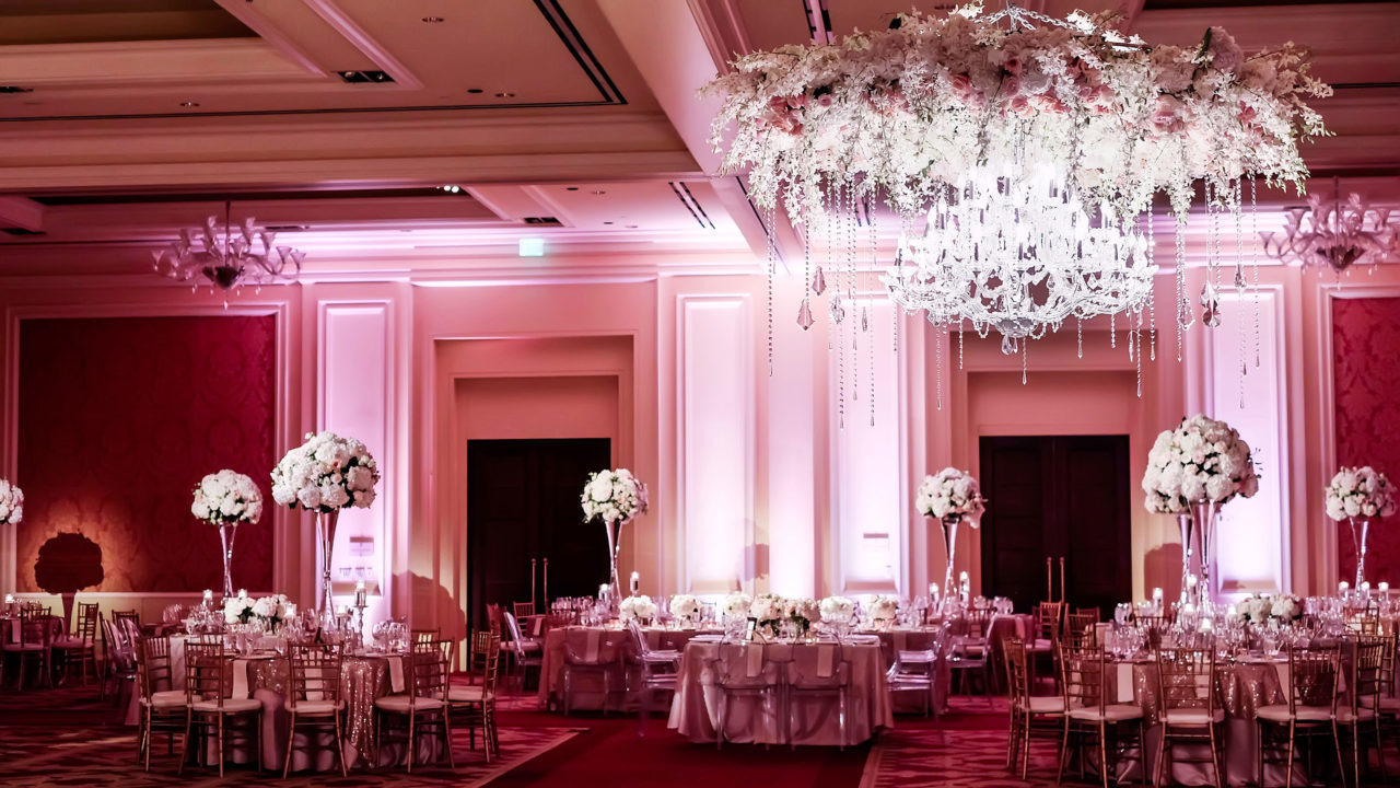 Bespoke wedding decorations for the nigerian at heart guardian beautiful chandelier adorns the wedding reception photo credit pinterest junglespirit Choice Image