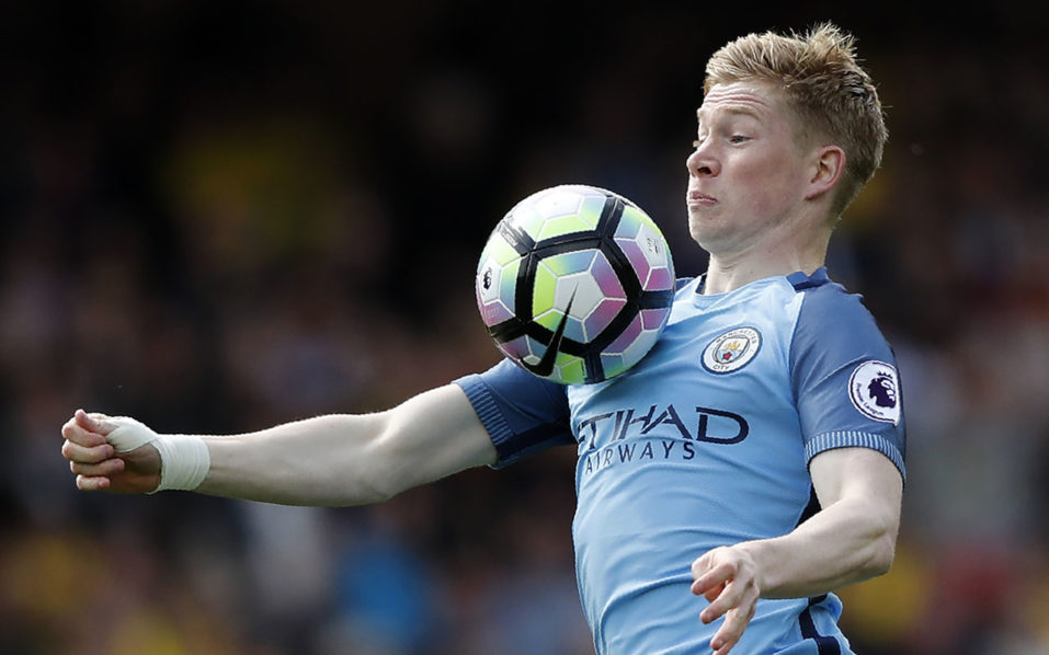 Kevin De Bruyne: Manchester City midfielder signs new deal until 2023