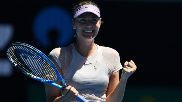 Sharapova happily back in old routine at Open