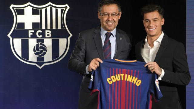 Reunions and introductions for Coutinho at Barcelona