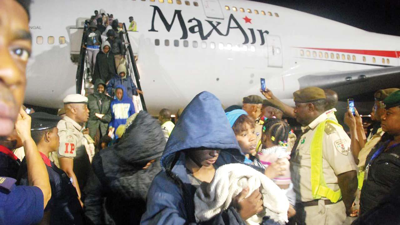 Image result for stranded nigerians from libya