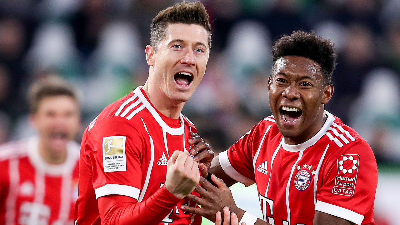 Last-gasp Lewandowski penalty rescues Bayern at Wolfsburg ...