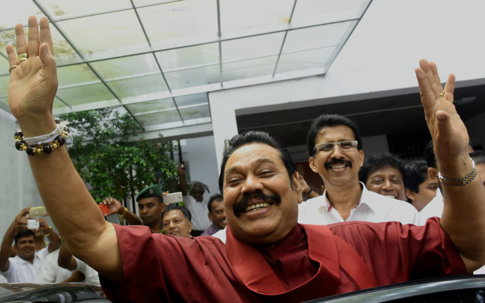 Sri Lanka ex-leader Mahinda Rajapakse demands snap polls after victory