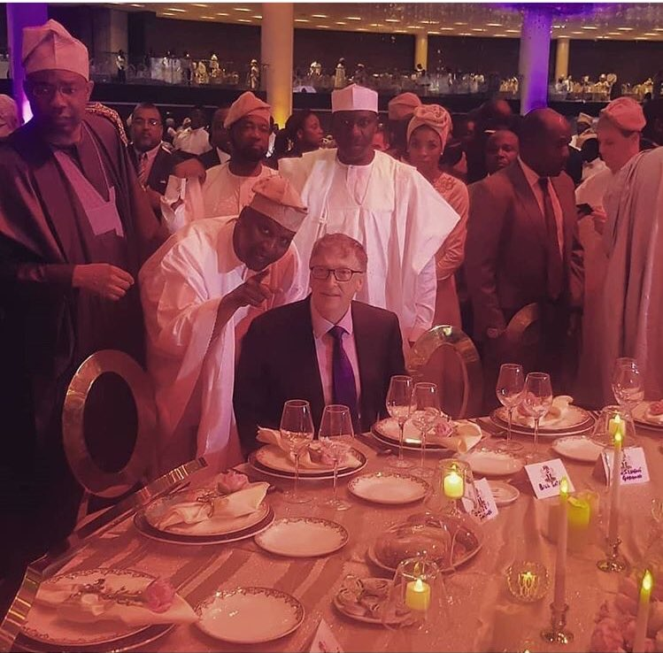 Sh1.3 trillion net worth: Bill gates attends wedding of Aliko Dangote's daughter