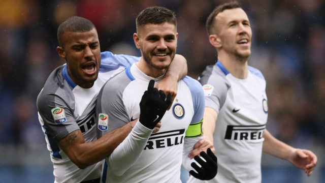 Icardi hits four to break 100-goal mark as Inter join top four