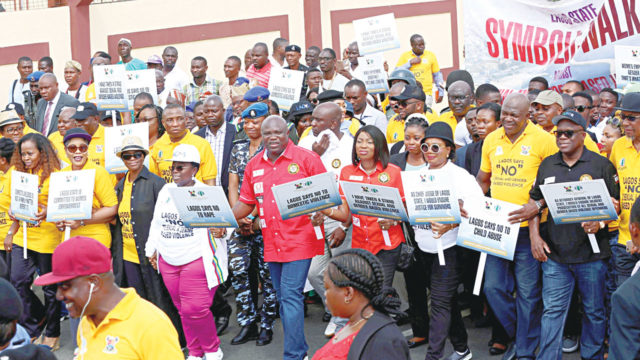 Ambode leads walk against domestic violence, backs 25-year jail term for rapists, others