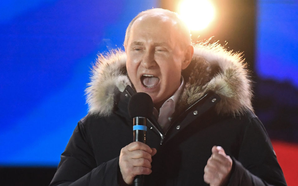 Russian presidential elections begin, Vladimir Putin eyes fourth term class=