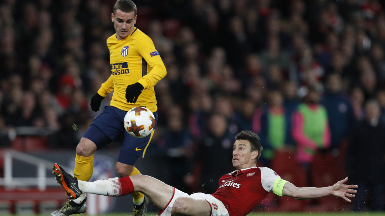 Europa League: Antoine Griezmann sucker punch floors Arsenal