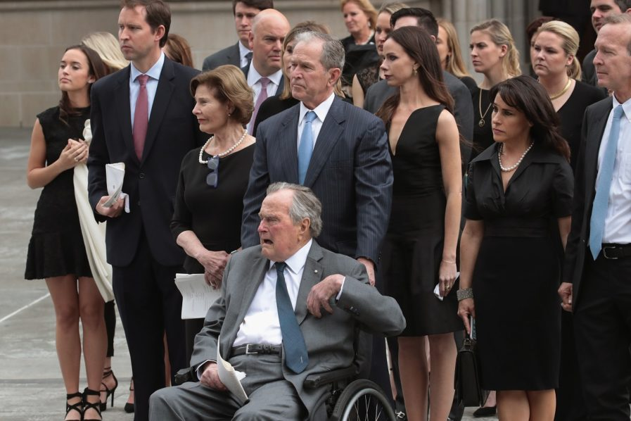 george hw bush hospitalized day after wife�s funeral