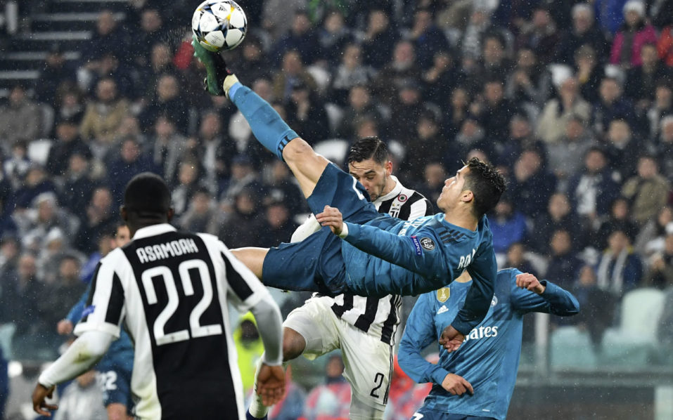 Ronaldo's overhead kick against Juventus wins UEFA goal of season