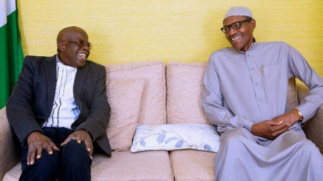 President Buhari meets Bola Tinubu in London