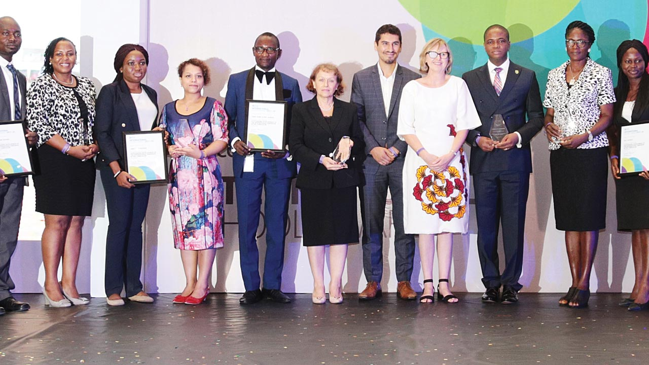 Officials of British Council and Recipients of International School Award. Photo: Guardian