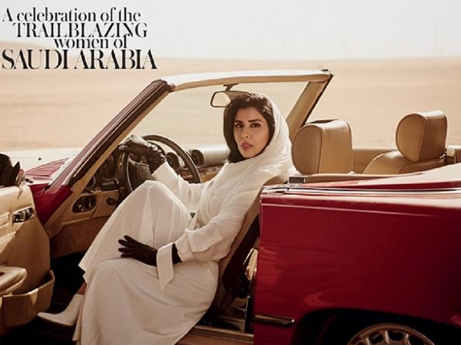 Social media enraged over Vogue Arabia cover showing Saudi princess behind wheel