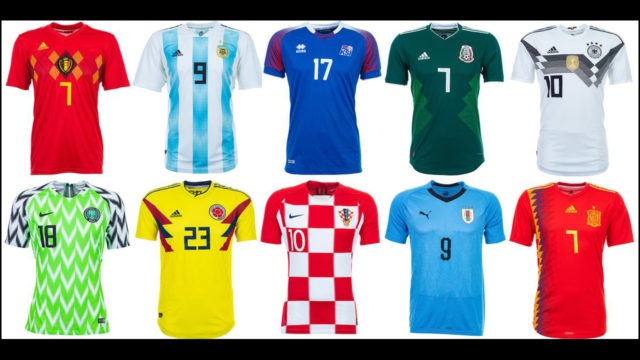 Top World Cup 2018 football jerseys