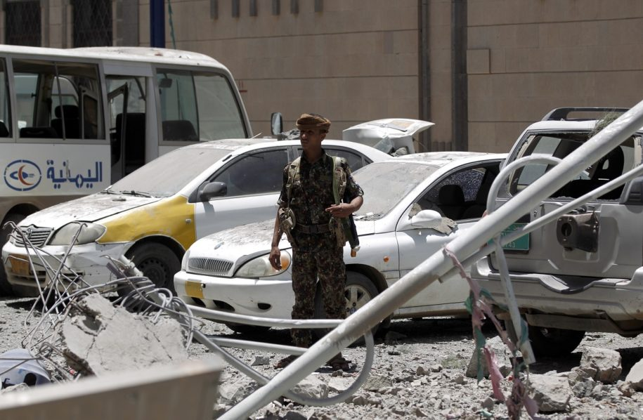 Casualties reported after air strike hits presidential palace in Yemen