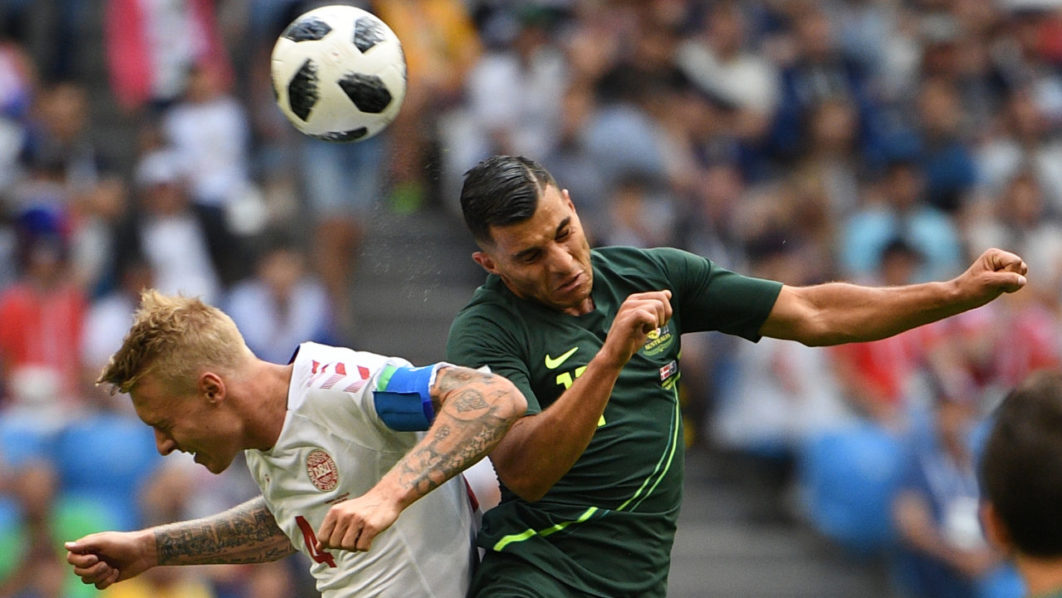 SPORT: Denmark on course for knockout phase after draw against Australia