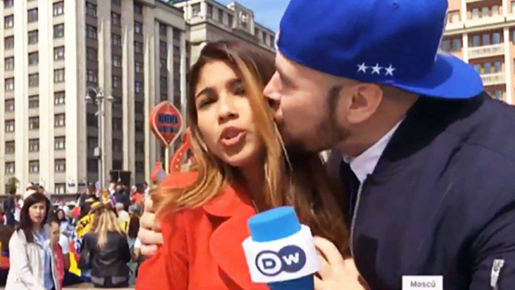 SPORT: Female World Cup reporter groped on live TV