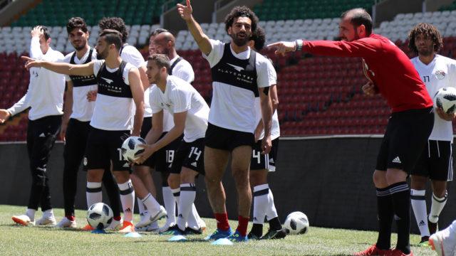 Mohamed Salah joins Egypt training session