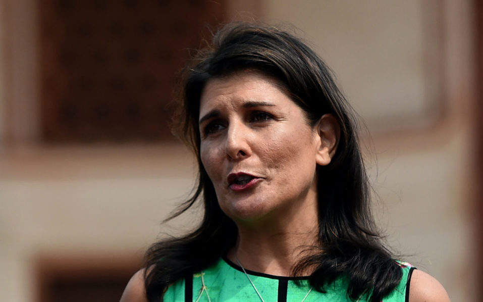US's Haley tells India to 'rethink' Iran ties