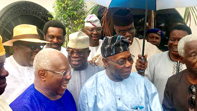 Obasanjo reconciles with Afenifere Leaders, Bode George
