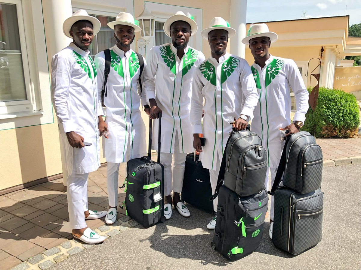 Image result for super eagles travelling uniform to9 russia