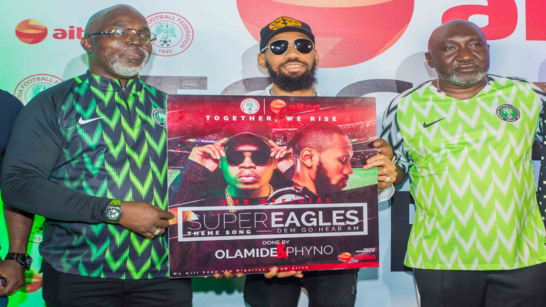 aiteo launches super eagles official theme song sport the
