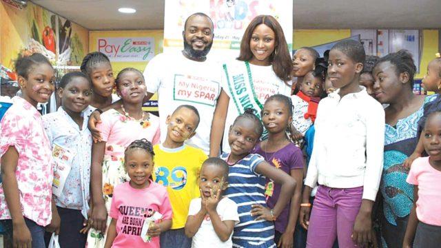 Miss Nigeria, Yomi Gold celebrate children, hosts SPAR Kids Fun Fiesta