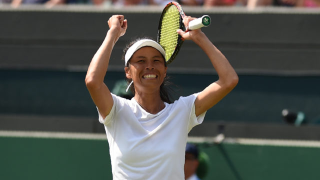 Hsieh shocks world number one Halep at Wimbledon