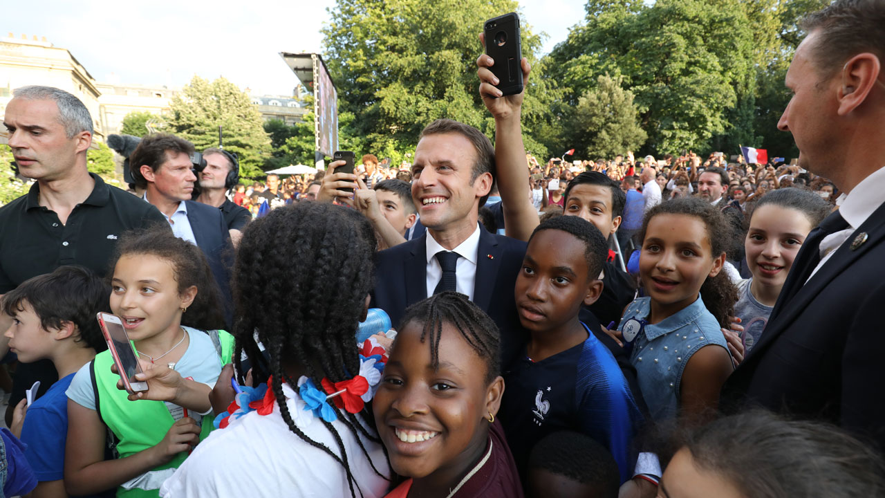 SPORT: All-conquering French team arrives to rousing welcome