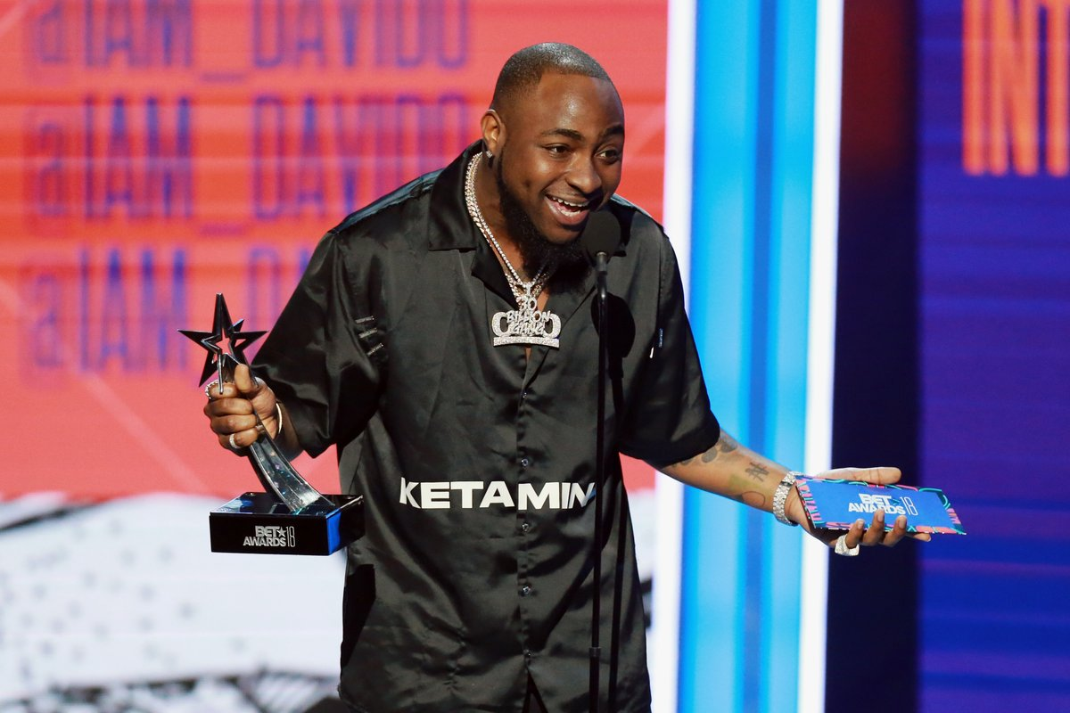 Davido with his BET Award  Photo Style Rave | The Guardian