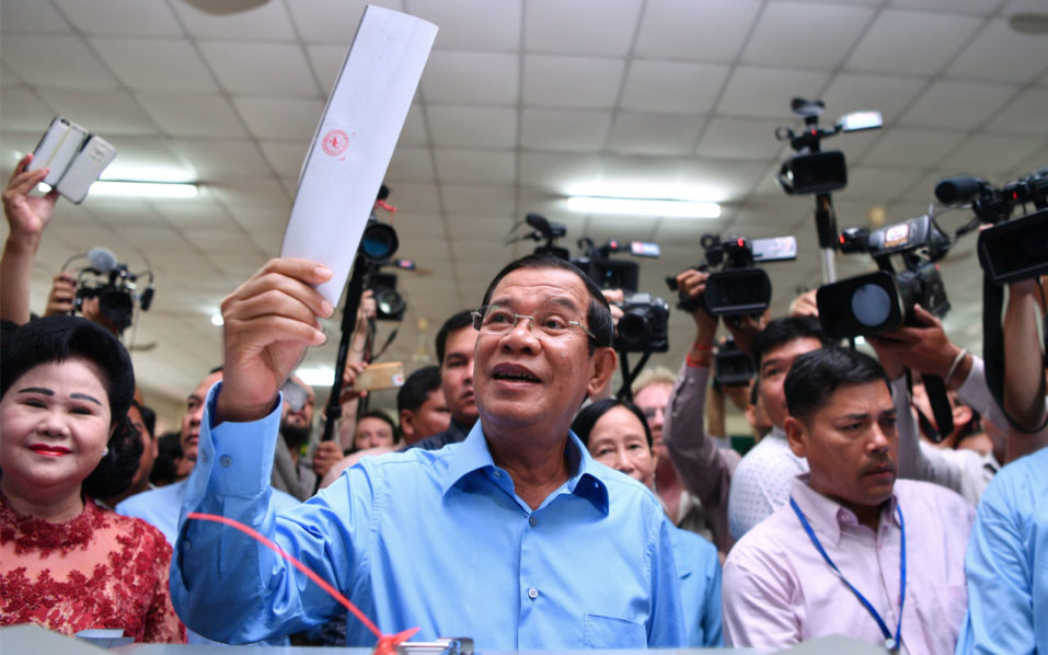 Cambodia prime minister's party to win 'all seats' in flawed election