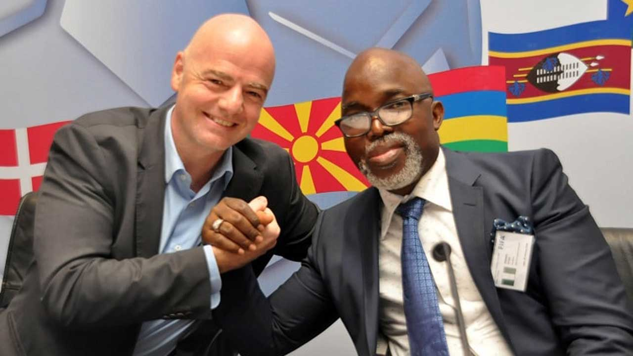 Federation Internationale de Football Association  confirm Nigeria escape ban after FG affirms Pinnick as NFF president