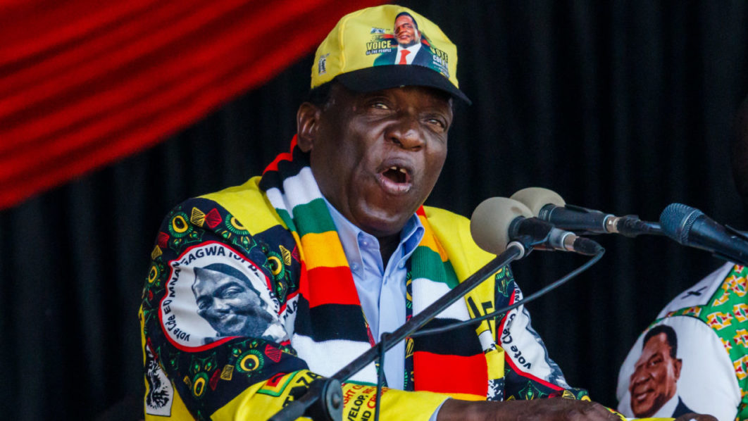 Zimbabwe's Mnangagwa accuses rival Chamisa of striking deal with Mugabe
