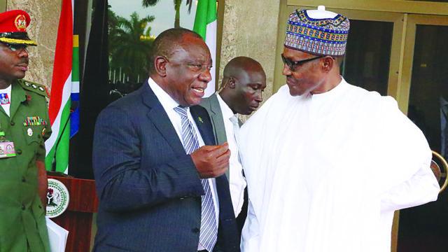 Ramaphosa meets Buhari in Abuja
