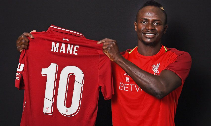 Mane handed the No. 10 jersey at Liverpool