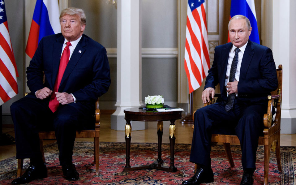 Trump blames 'double negative' for furor over Putin meeting