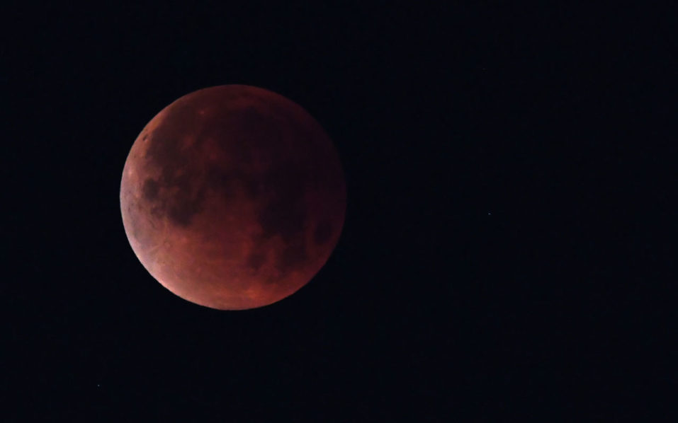 Rare blood Moon spectacle TOMORROW night