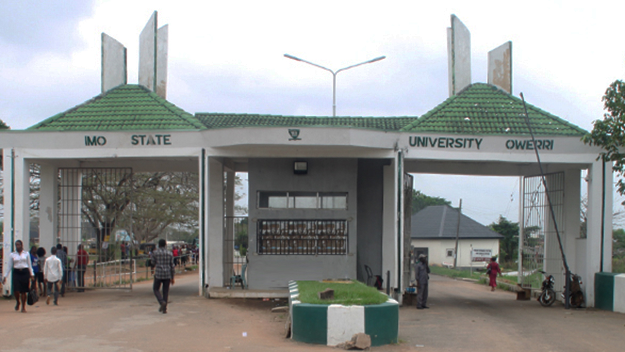 Main Entrance, Imo State University. Photo: Guardian