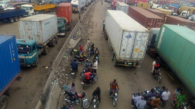 Truck crushes motorcyclist, passenger on Lagos-Ibadan expressway