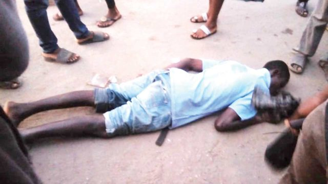 Man collapses in middle of the road at Oshodi