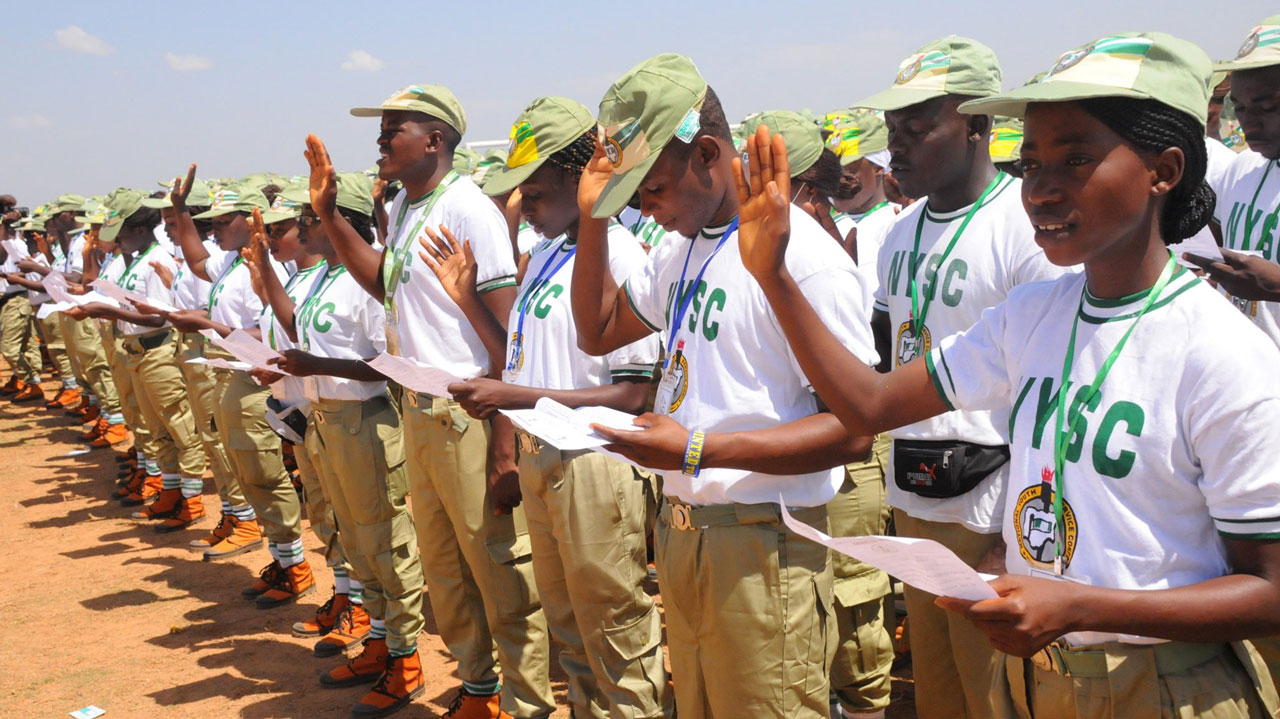 Corps Members on parade. Photo: Daily Post