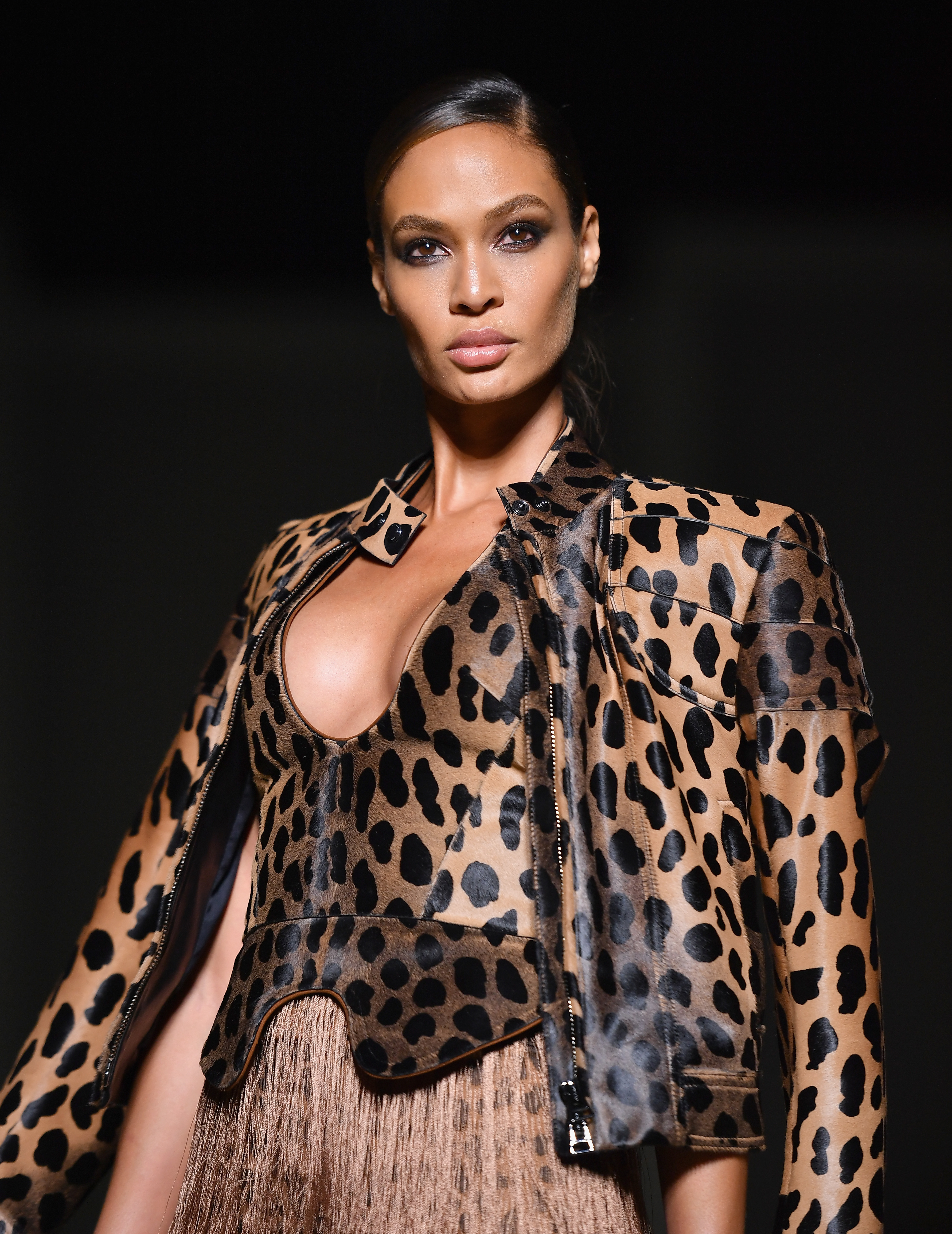 Puerto Rican model Joan Smalls walks the runway at the Tom Ford SS19 Show  at Park Avenue Armory on September 5, 2018 New York City. 4aceb93a7f98