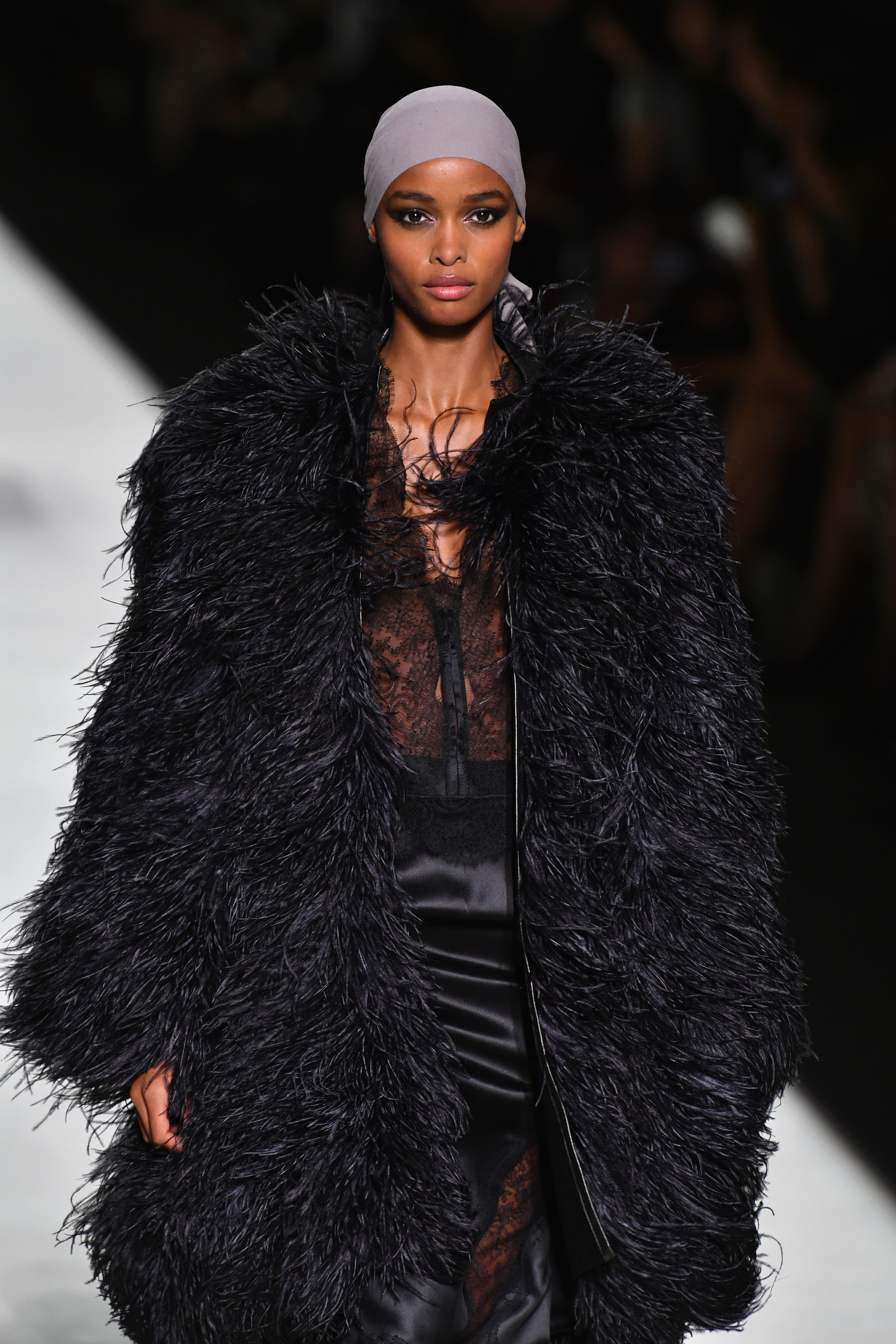 NEW YORK, NY – SEPTEMBER 05  A model walks the runway at the Tom Ford  fashion show during New York Fashion Week at Park Avenue Armory on  September 5, ... 5eaebc70b217