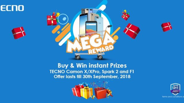 Tecno Mega Reward: buy Camon X, X pro, Spark 2, F1, and win instant gift items