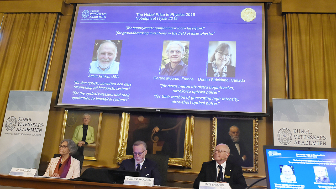 Nobel Prize in Physics 2018 Awarded For Revolutionary Work in Lasers