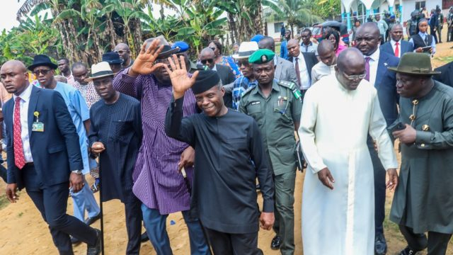 We stand by you, Osinbajo tells flood victims in Bayelsa, Rivers