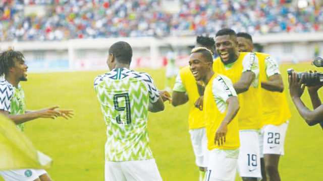 Ighalo's hat-trick brightens Eagles' chance for AFCON