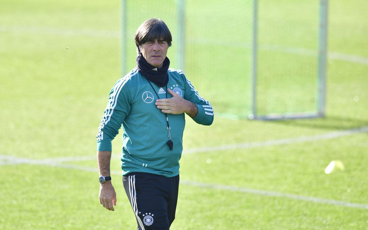 20b4ec6da Germany's head coach Joachim Loew attends a training session of the German  national football team on October 10, 2018 in Berlin, ahead of a Nations  League ...