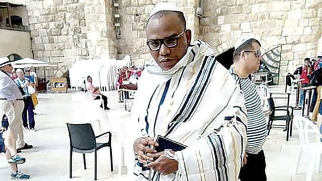 Missing pro-Biafran leader is in Israel, claims lawyer