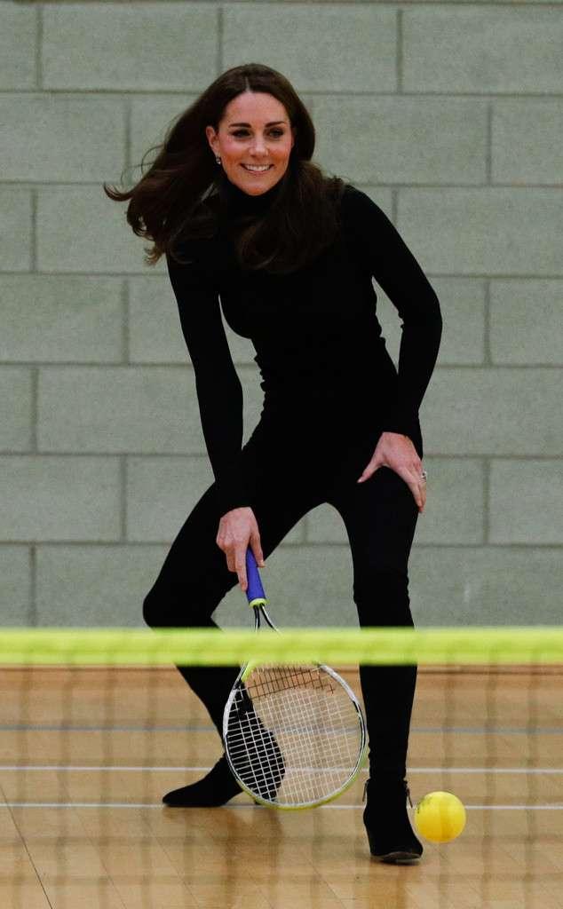 Kate Middleton Plays tennis